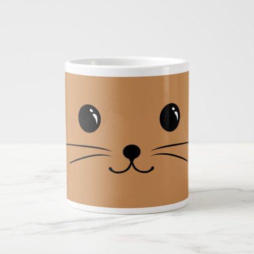 Brown Mouse Cute Animal Face Design Jumbo Mugs