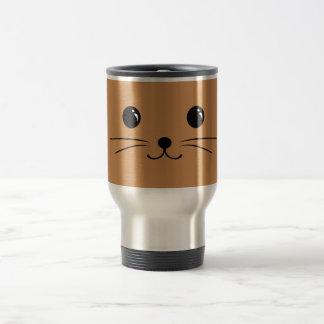 Brown Mouse Cute Animal Face Design Travel Mug