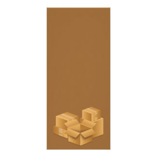 BROWN MOVING BOXES RANDOMA ABSTRACT BACKGROUNDS RACK CARD