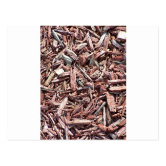 """Brown Mulch, isn't """"mulch"""" to look at :) Postcard"""