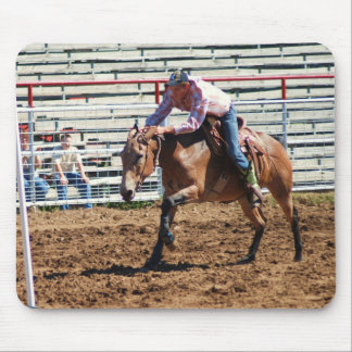 brown mule in pole bending class mouse pads