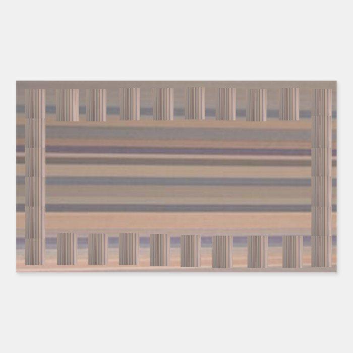 Brown n Gray Shades Wood finish Border Color Sheet Rectangular Sticker