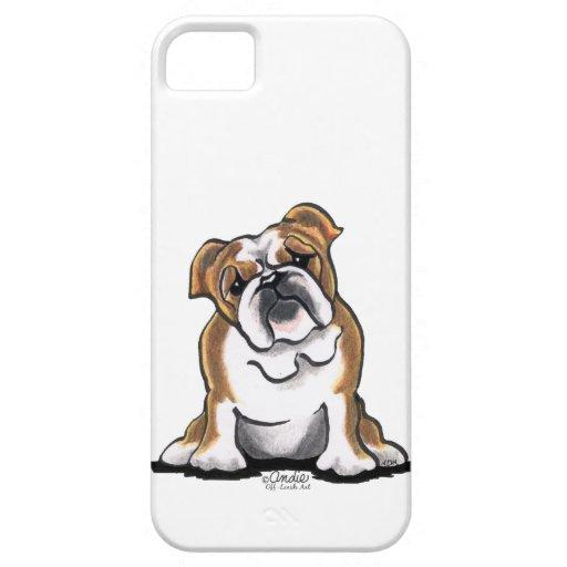 Brown n White English Bulldog Sit Pretty iPhone SE/5/5s Case