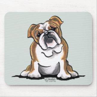 Brown n White English Bulldog Sit Pretty Mouse Pad