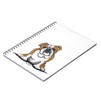 Brown n White English Bulldog Sit Pretty Spiral Notebook