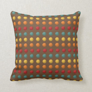 Brown, naranja, amarillo, trullo puntea la almohadas