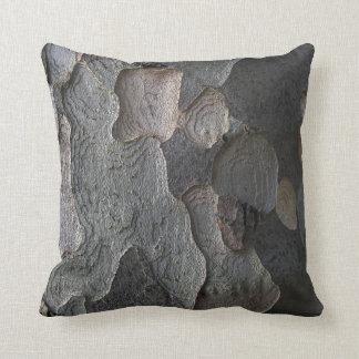 Brown Natural Organic Tree Bark Texture cushion
