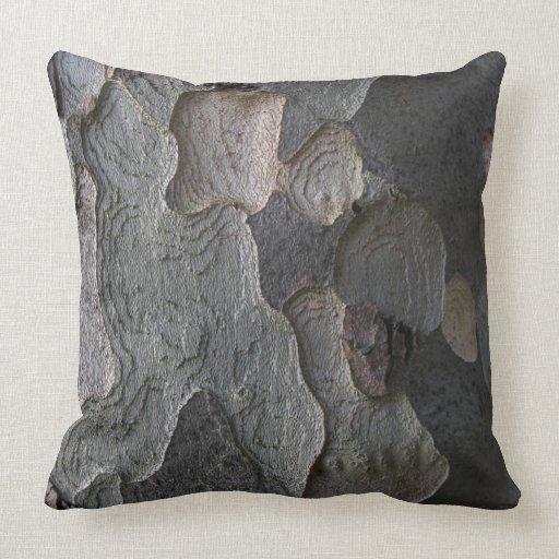Brown Textured Throw Pillow : Brown Natural Organic Tree Bark Texture cushion Throw Pillows Zazzle