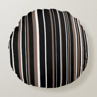 Brown negro, de color topo adaptable, y raya cojín redondo