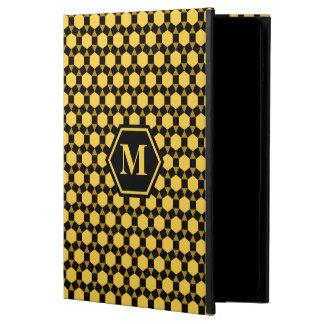 Brown negro y caja amarilla del iPad de STH
