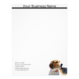 Brown negro y papel con membrete blanco del perro  membrete a diseño