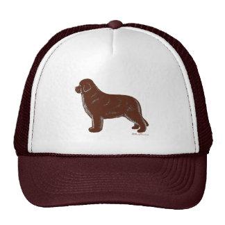 Brown Newfoundland Dog Trucker Hat