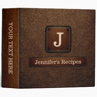 Brown-nose Elegant Recipe Leather Look Binder