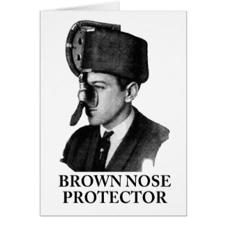 Brown Nose Protector Greeting Card