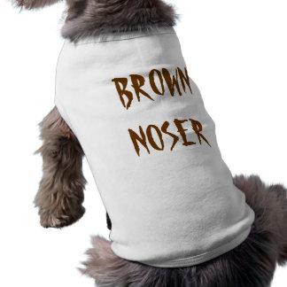 Brown Noser Playera Sin Mangas Para Perro