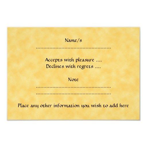 Brown Oak Leaf Design. Card