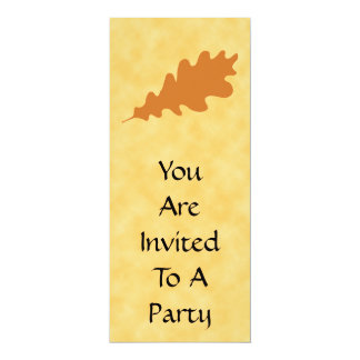 Brown Oak Leaf Design. Personalized Invitations