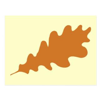 Brown Oak Leaf Design. Post Card
