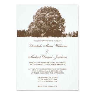 """Brown Oak Tree Fall Wedding Invitations 5"""" X 7"""" Invitation Card"""