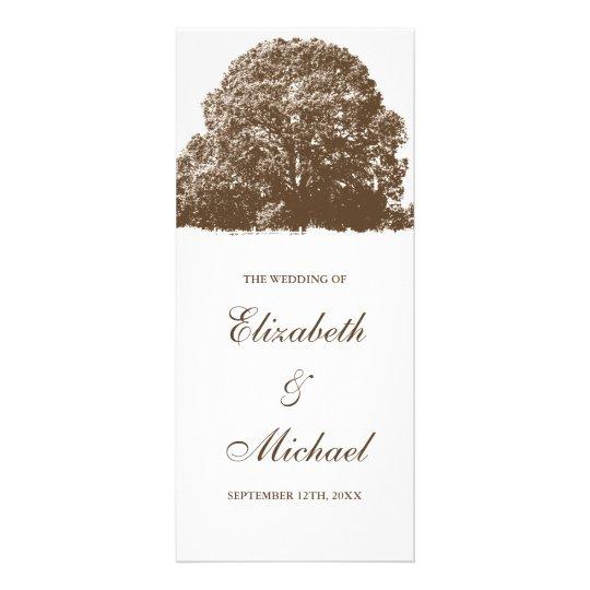 Brown Oak Tree Fall Wedding Program