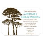 Brown Oak Tree Wedding Invitations