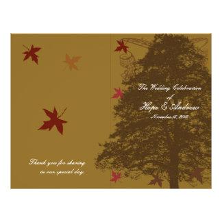 Brown Oak Tree Wedding Program