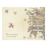 Brown Oak Tree Wedding Program Flyer Design