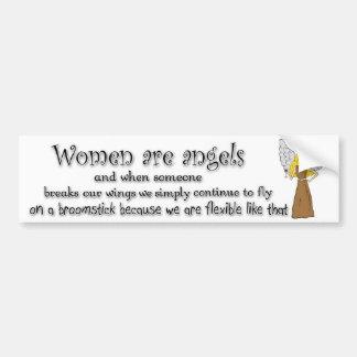 Brown observó a mujeres rubias es ángeles etiqueta de parachoque