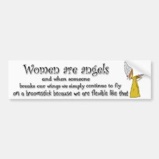Brown observó a mujeres triguenas es ángeles etiqueta de parachoque