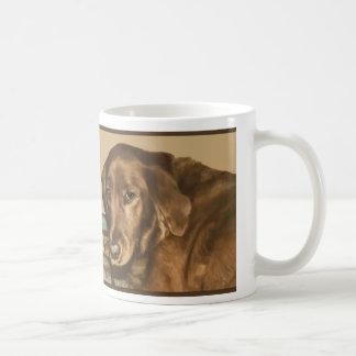 Brown observó el perro irlandés de oro taza básica blanca