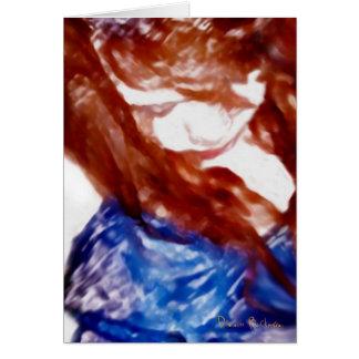 Brown observó la pintura del chica tarjeta de felicitación