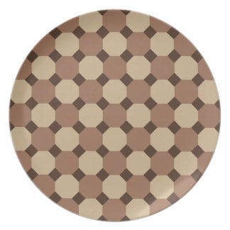Brown Octagon Plate