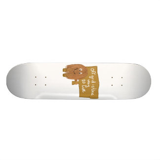 Brown off grid skateboard deck