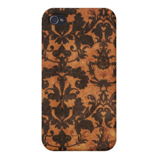 Brown Old Grunge Damask 4/4s IV  iPhone 4/4S Cases