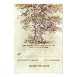 brown old tree rustic wedding RSVP cards Invites