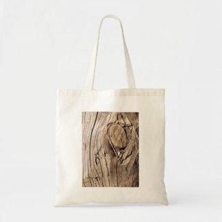 Brown Old Wood Budget Tote Bag