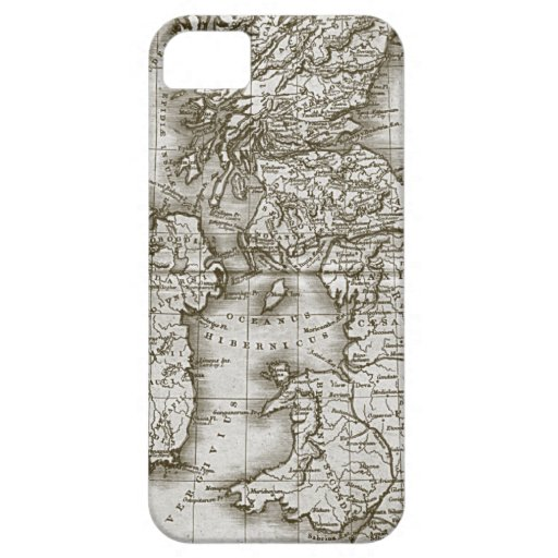 Brown Old World Antique Map Custom iphone 5 Case