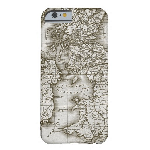 Brown Old World Antique Map Custom iPhone 6 case