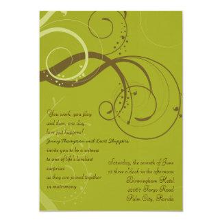 BROWN / OLIVE WEDDING Invitation