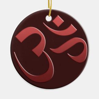Brown Om Symbol Ornament