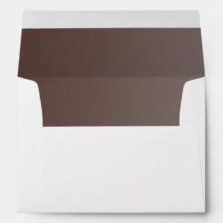 Brown Ombre' Inside Return Address on Back Envelope