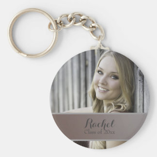 Brown Ombre' Photo Graduation Year Keychain