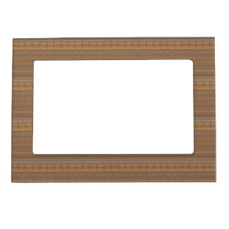 Brown Ombre Stripes Magnetic Picture Frame