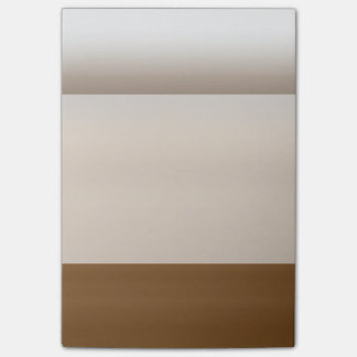Brown Ombre Watercolor Dip Dyed Coffee Color Post-it Notes