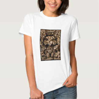 Brown on Black Coral T Shirt