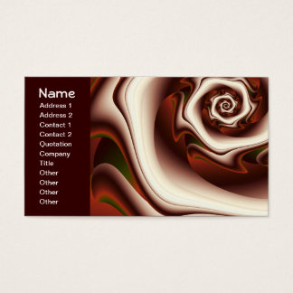 Brown On Brown Digital Abstract Art Business Card