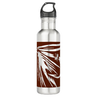 """""""Brown on Stainless Steal"""" Wet Fly""""  Water Bottle"""