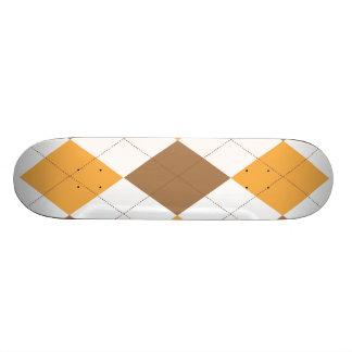 Brown Orange Argyle Skateboard