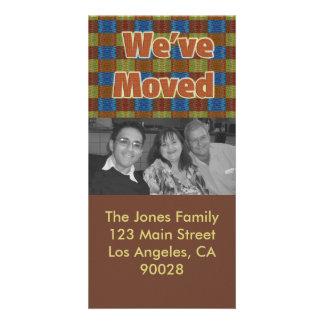 brown orange blue we've moved card