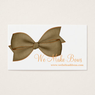 Brown & Orange Bow Style Business Card 1